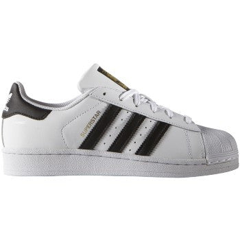 SUPERSTAR FOUNDATION WHT/ BLK LTHR LO LACE UP