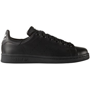 STAN SMITH BLK/ WHT LTHR LO LACE UP