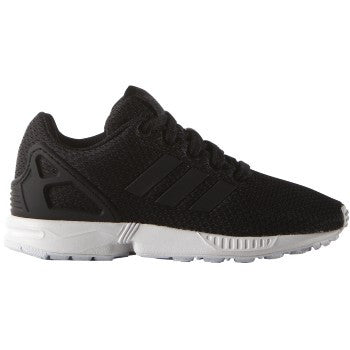 ZX FLUX K BLK/WHT LO LACE UP