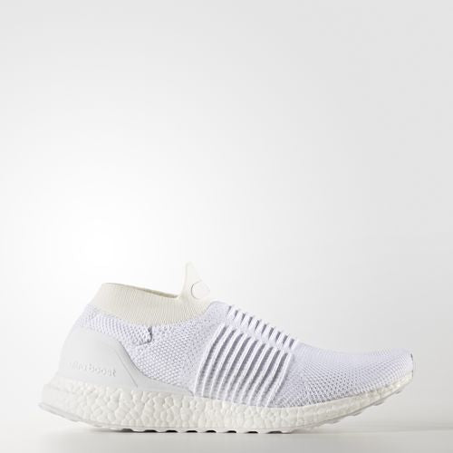New Men's Adidas UltraBOOST Laceless - S80768 - Size 8 - Running White