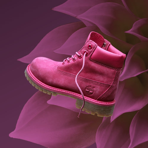 "JUNIOR 6-INCH LIMITED RELEASE PREMIUM WATERPROOF BOOTS ""ROSE RED"""