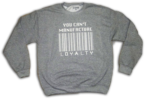 Barcode Loyalty Crewneck - White/Grey
