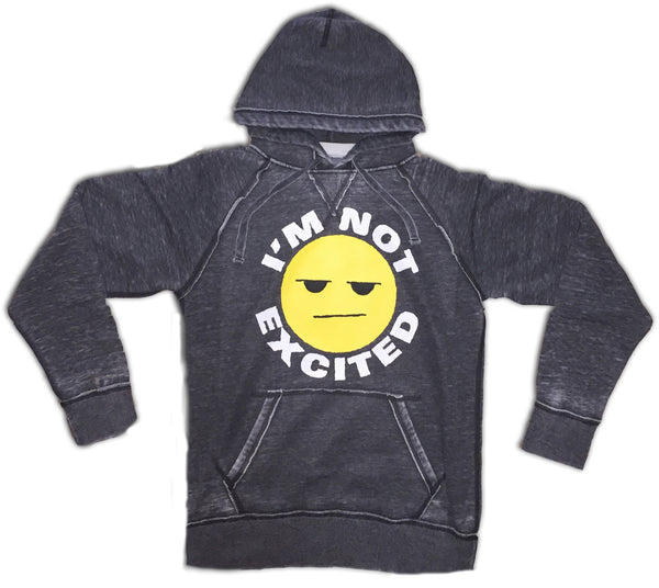 I'm Not Excited Grey Hoodie (Pre Order)
