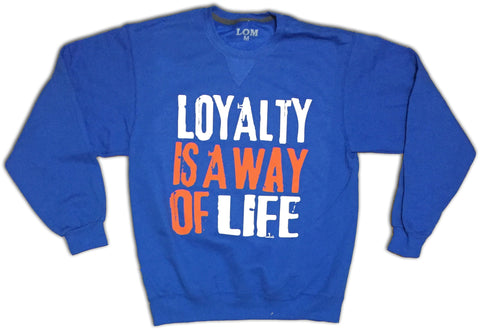 Loyalty Is A Way Of Life Crewneck - White/ Orange/Royal