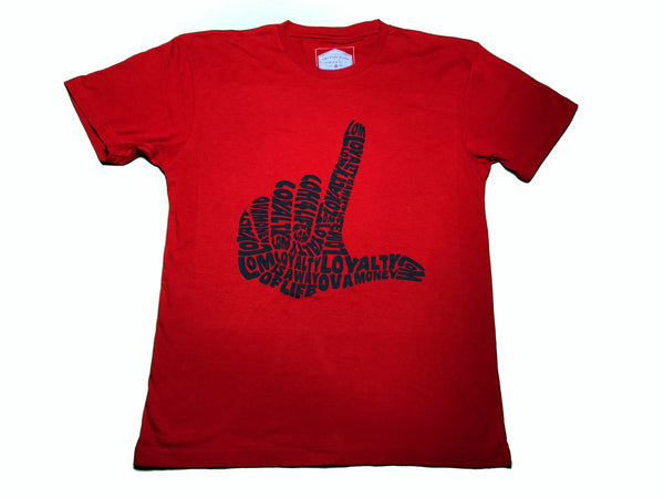 L Hand Red Loyalty shirt