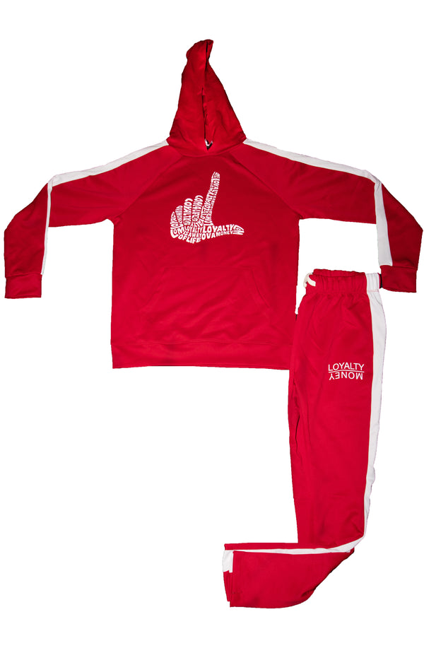 Red & White Loyalty Hand Tracksuit (RUNS SMALL)