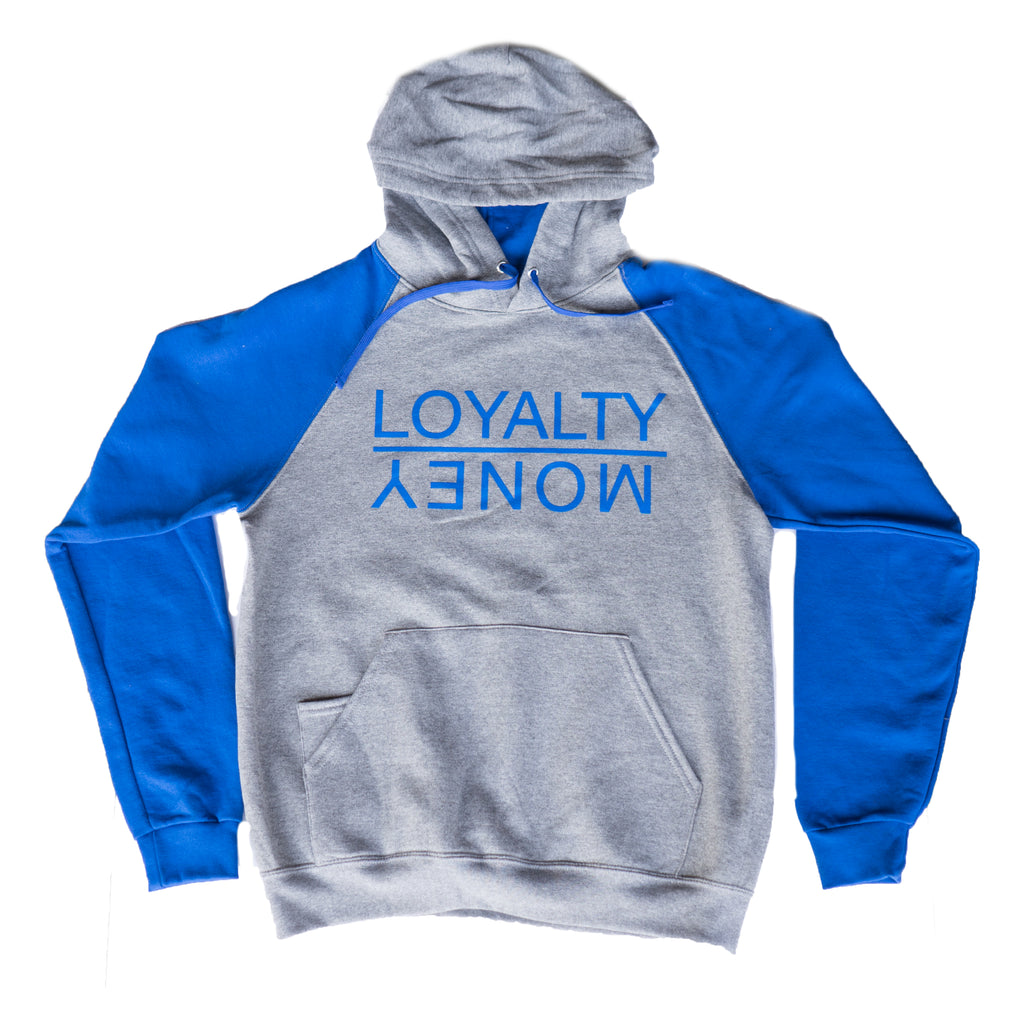 Loyalty Over Money Signature Hoodie - Blue & Grey