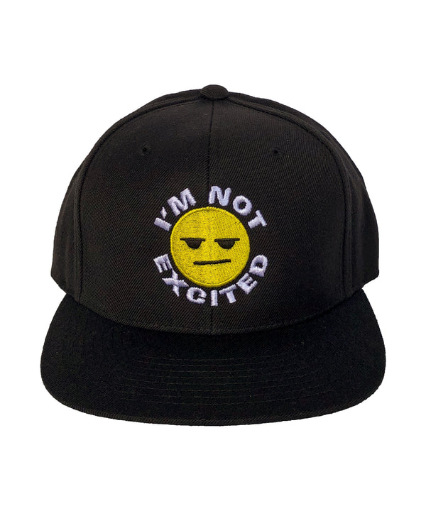 BLACK  IM NOT EXCITED HAT