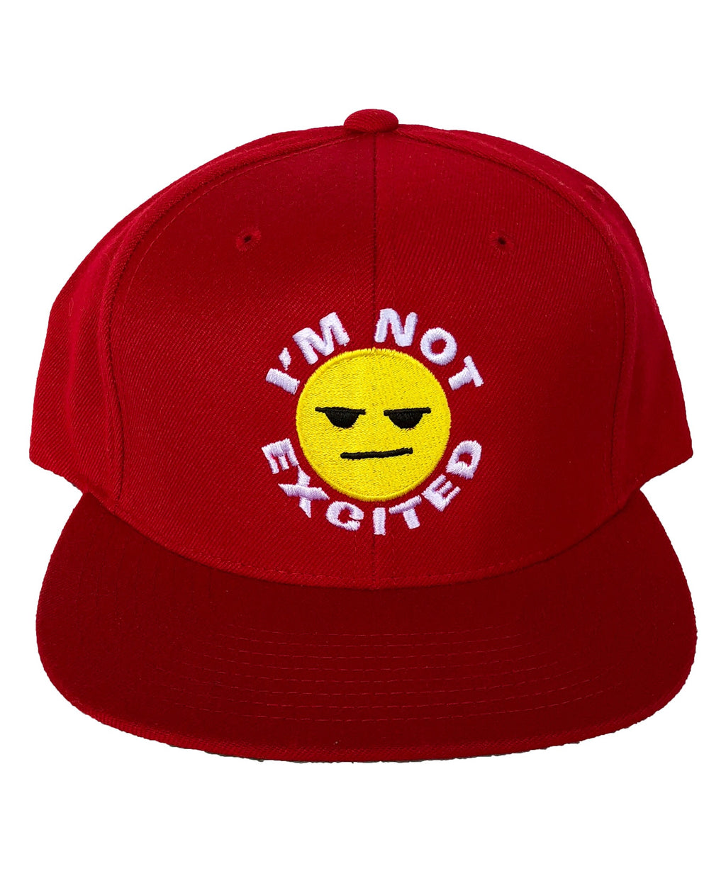 "Red ""I'm Not Excited"" Hat"