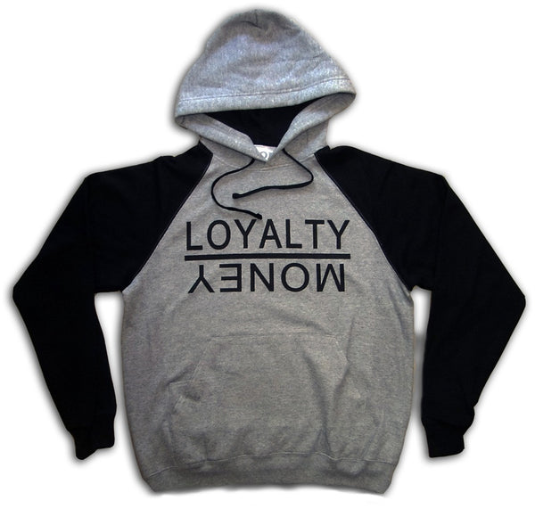 Loyalty Over Money Signature Hoodie - Black & Grey