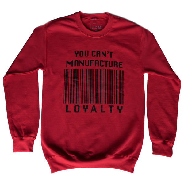 Red Barcode Crewneck