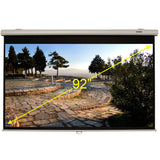 "Projection Screen 92"" Diagonal, Black"
