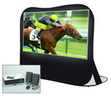 Pop-Up Projection Screen Kit with Projector, Speakers & Carry Bag