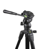 "58"" Pro Panorama Tripod includes Zippered Carry Bag with Carry Strap, Black"