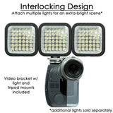 Pro Ultra Bright LED Video Light Rechargeable - 36 LED/600 Lumens