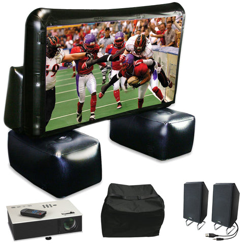 6' Inflatable Projection Screen Kit with Projector, Speaker & Carry Bag