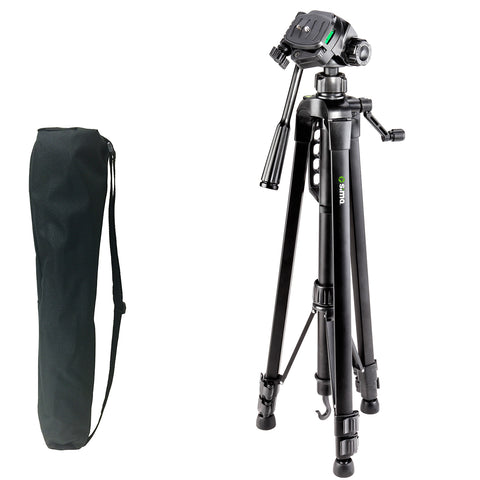 "66"" Pro Panorama Tripod includes Zippered Carry Bag with Carry Strap, Black"