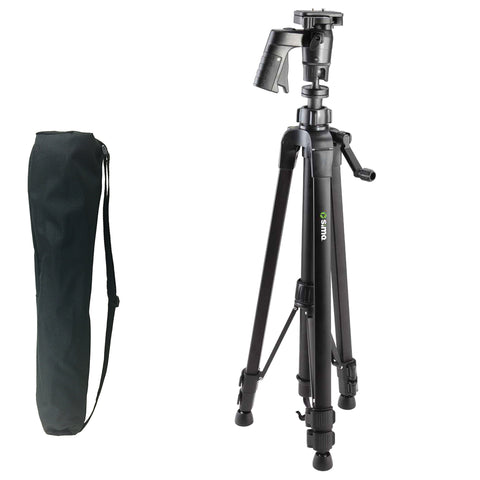 "61"" Pistol Grip Pro Panorama Tripod includes Zippered Carry Bag with Carry Strap, Black"