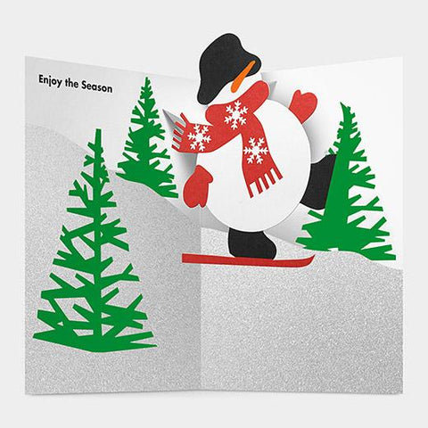 MoMA - Christmas Pop-Up Card- Skiing Snowman
