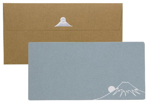 Yamazakura - Cashico - embossed card with silver foil printing - Mt. Fuji