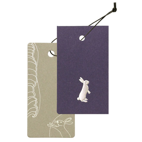 Yamazakura - Cashico - embossed mini card with silver foil printing - rabbit