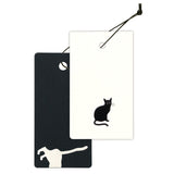 Yamazakura - Cashico - embossed mini card - black cat