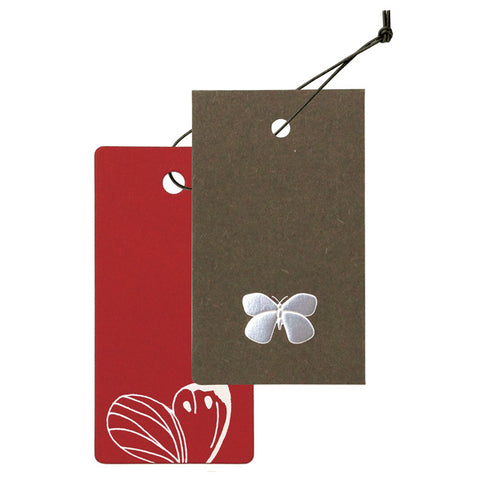 Yamazakura - Cashico - embossed mini card with gold foil printing - butterfly