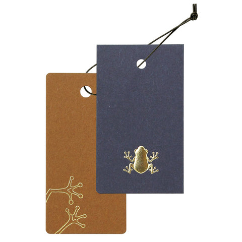 Yamazakura - Cashico - embossed mini card with gold foil printing - frog