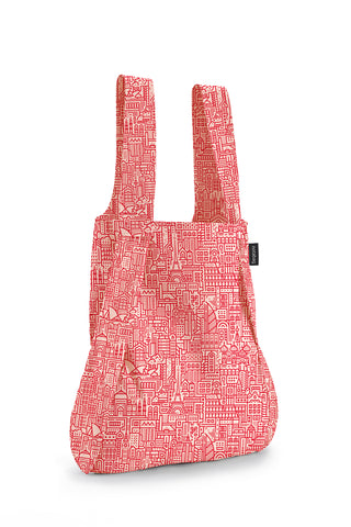 Notabag - Backpack & Handbag - Special Edition - Hello World - red rose