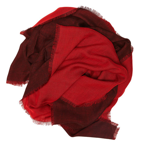 Marumasu - tencel scarve - red & grey