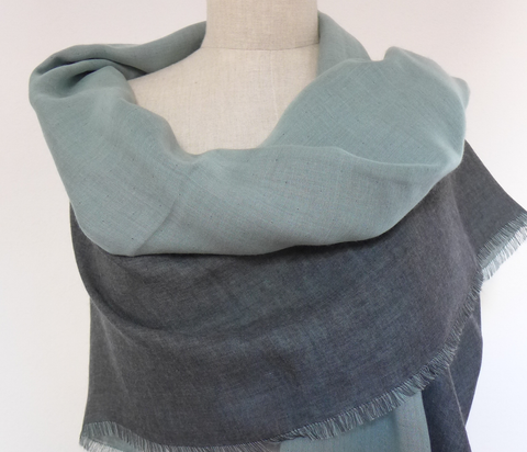 Marumasu - tencel scarves - watergreen