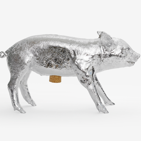 Areaware - Harry Allen - Piggy Bank - silver