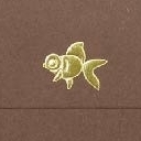 Yamazakura - Cashico - embossed mini card with gold foil printing - gold fish