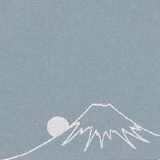 Yamazakura - Cashico - embossed mini card with silver foil printing - Mt. Fuji