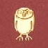 Yamazakura - Cashico - embossed mini card with gold foil printing - owl