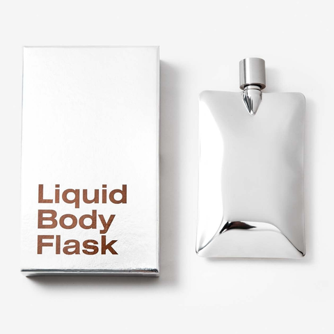Areaware - Liquid Body Flask stainless steel
