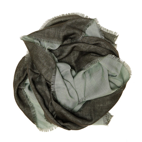 Marumasu - tencel scarve - watergreen & soft grey