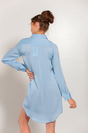 London Shirt Dress Faded Denim