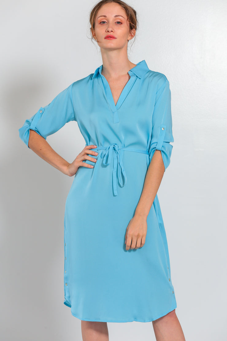Fiji Dress Shore Blue