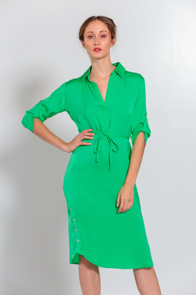 Fiji Dress Tropical Green