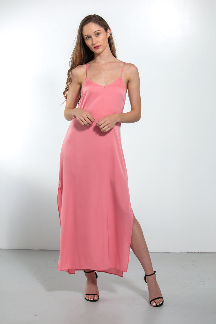 Venus Dress Peach Coral - Nouvelle