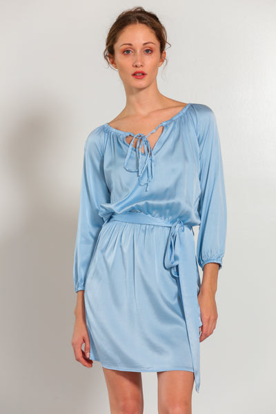Verona Dress Faded Denim