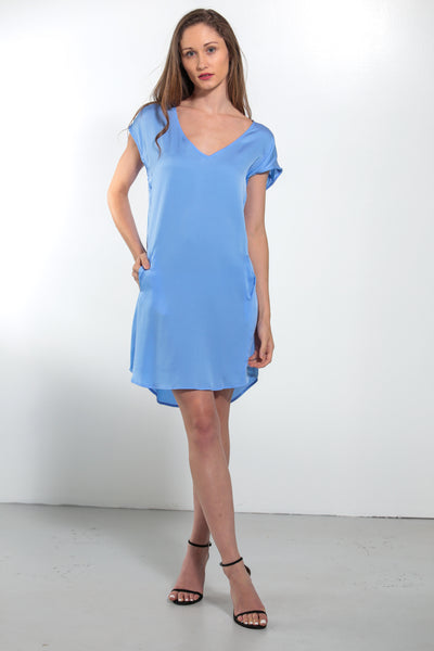 Athena Dress Periwinkle - Nouvelle