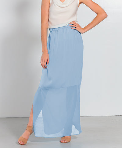 Eilat Skirt Faded Denim - Nouvelle