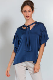 Milan Blouse Midnight Blue - Nouvelle