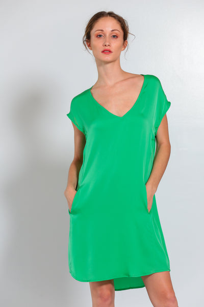 Athena Dress Tropical Green