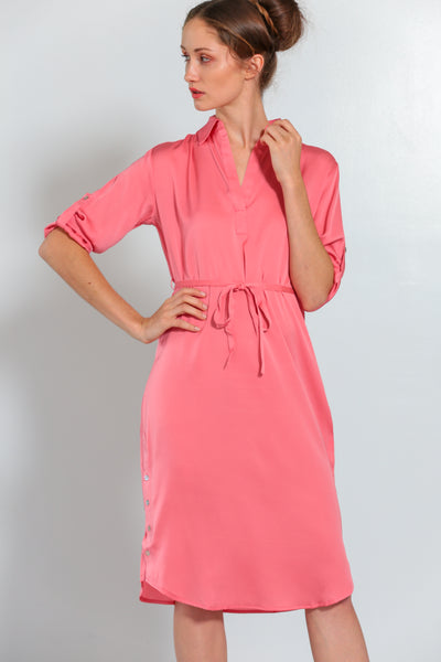 Fiji Dress Peach Coral - Nouvelle