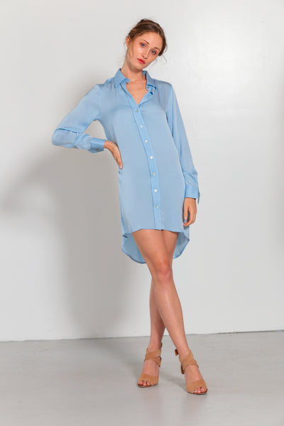 London Shirt Dress Faded Denim - Nouvelle