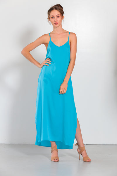 Venus Dress Fountain Blue