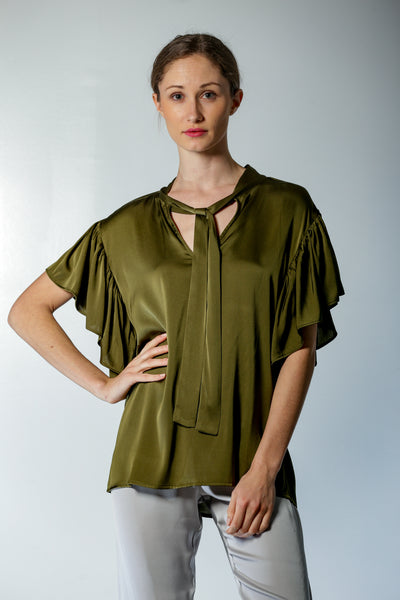 Milan Blouse Chesterfield Green